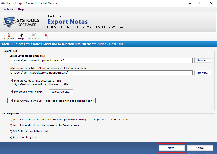 Lotus Notes Export to PST